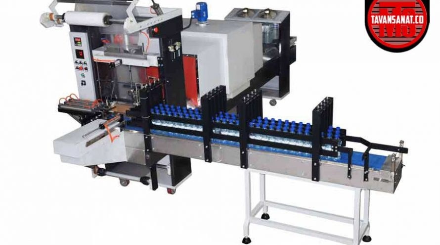 شیرینگ پک شیرینگ تونلی بسته بندی آب بسته بندی بطری خط بسته بندی توان صنعت tavansanat 890x495 - دستگاه شیرینگ پک ۳ لاین توان صنعت