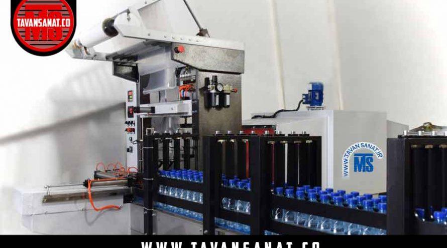 پک شل آب معدنی دستگاه شلکن بطری بسته بندی دوغ بطری شیرینگ تونلی  890x495 - معرفی دستگاه شیرینگ پک و بسته بندی توان صنعت