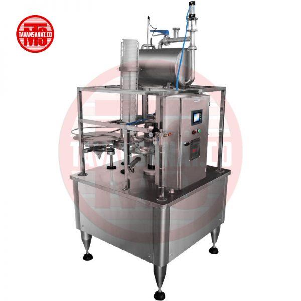 دستگاه پرکن  پرکن لیوانی مخصوص لبنیات (تک نازل)                                                                 600x600