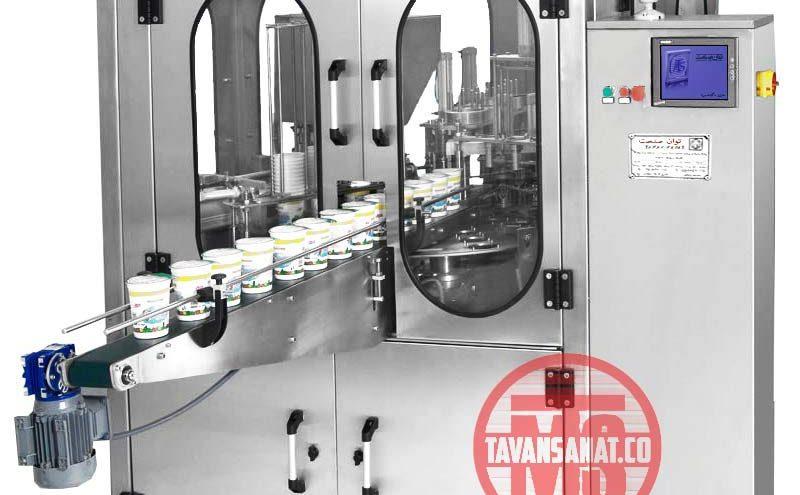 پرکن ظروف لیوانی روتاری چهار لاین ماشین سازی توان صنعت مشهد 800x495 - دستگاه پرکن ظروف لیوانی روتاری توان صنعت