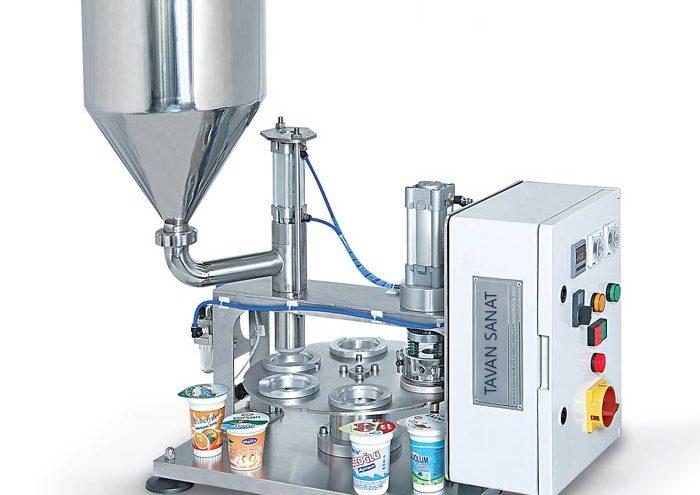 و سیلکن ظروف لیوانی نیمه اتومات ماشین سازی توان صنعت مشهد 700x495 - دستگاه پرکن و سیلکن ظروف لیوانی توان صنعت