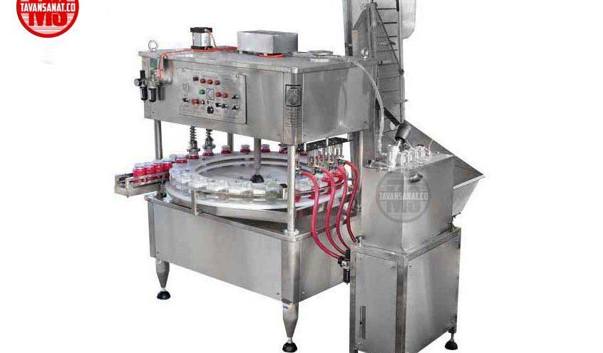 دستگاه پرکن  دستگاه پرکن و دربند مایعات غلیظ توان صنعت                                                                               846x495