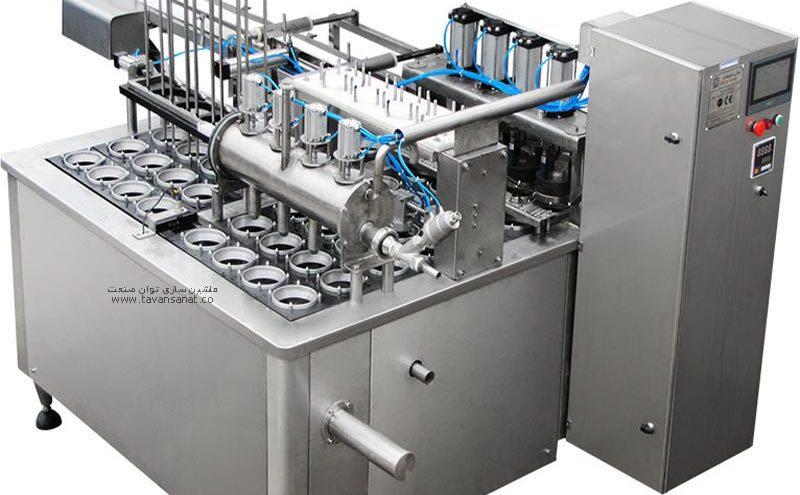 خطی 4 نازل مخصوص ظروف لیوانی توان صنعت 800x495 - دستگاه پرکن ماست خطی ۴ نازل توان صنعت
