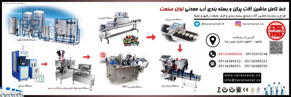 دستگاه پرکن لیست قیمت دستگاه پرکن و بسته بندی خط تولید آب معدنی توان صنعت 0915200050