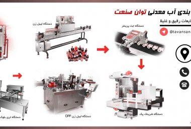 پرکن  خط کامل دستگاه پرکن و بسته بندی اب معدنی و دوغ توان صنعت                                                                       380x256