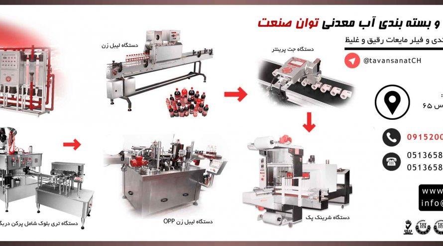 پرکن  خط کامل دستگاه پرکن و بسته بندی اب معدنی و دوغ توان صنعت                                                                       890x495