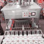 دستگاه تری بلوک ابمیوه تخم شربتی با درب ریپ کپ توان صنعت