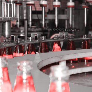 خط کامل دستگاه پرکن شیشه تخم شربتی توان صنعت                                              300x300