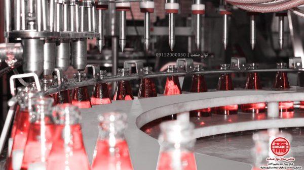 خط کامل دستگاه پرکن شیشه تخم شربتی توان صنعت                                              600x337